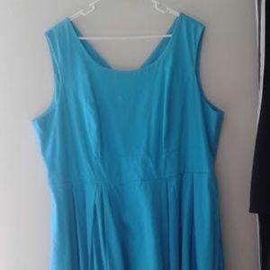 Blue Dress Plus Size Calvin Klein